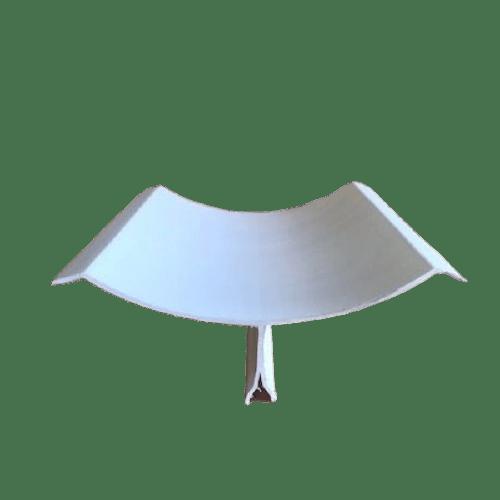 congé d'angle PVC grand rayon